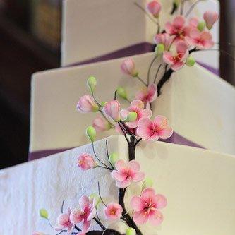 3 Tier Square Designer Wedding Cake